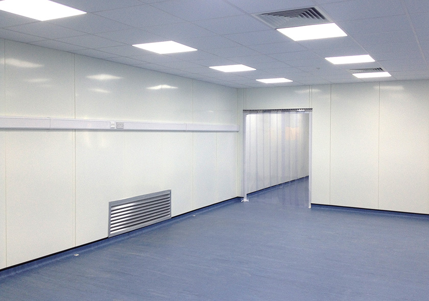 WRG cleanroom partitioning